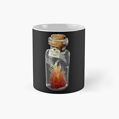 Taza clásica con diseño de fuego, color rojo y el mejor regalo, tazas de café divertidas, 11 onzas