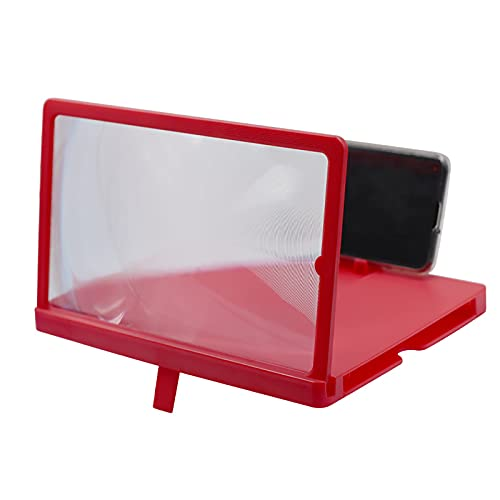 ZS ZHISHANG 3D Phone Screen Magnifier Amplifier Enlarger Desktop Phone Screen Amplifier Portable Holder Stand Screen Enlarger Projector for Any Smartphone