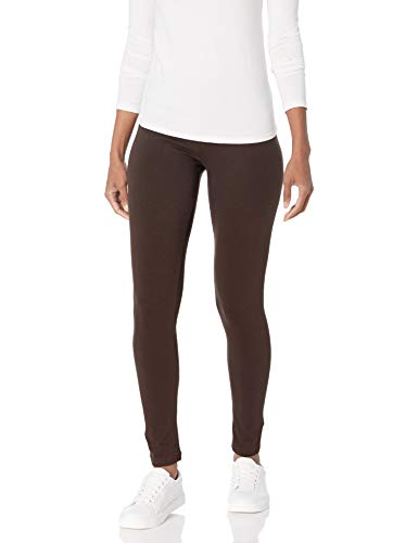 No Nonsense Women's Cotton Legging, Espresso, Large