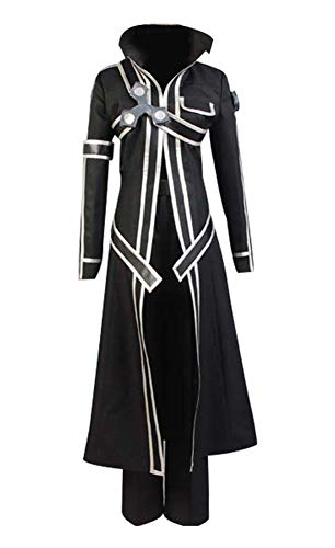 Sword Art Online SAO Kirito Uniform Cosplay Costume and Wig in Size L