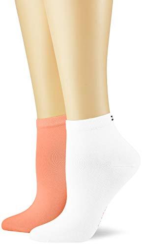 Tommy Hilfiger Damen TH Women Casual Short 2P Socken, Orange (Peach/Coral 015), (Herstellergröße: 35/38) (2er Pack)