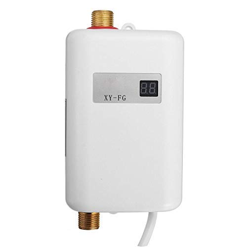 Elikliv Mini Water Heater, 3800W Electric Tankless Instant Hot Water Heater...