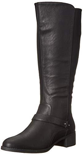 Easy Street Women's Jewel Plus Mid Calf Boot, Black, 7.5 W US