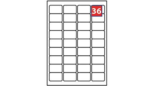EJRange Etiquetas autoadhesivas para impresora de direcciones de correo - Compatible con impresoras de inyección de tinta y láser - Etiquetas adhesivas imprimibles, color 100. 36 Labels