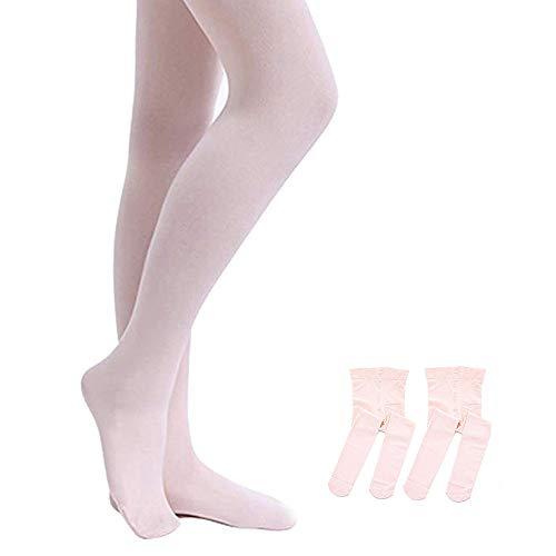 STELLE Girls' Ultra Soft Pro Dance Tight/Ballet Footed Tight (Toddler/Little Kid/Big Kid), 2-BP, XXS