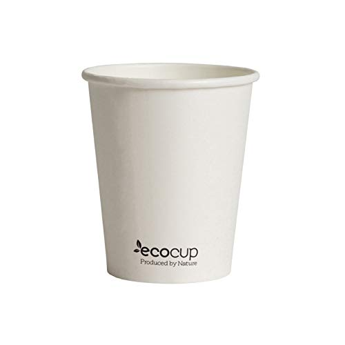 Vasos de Café Desechables, Biodegradables y Compostables- 50Uds 285ml/ 8oz -Materiales 100%...