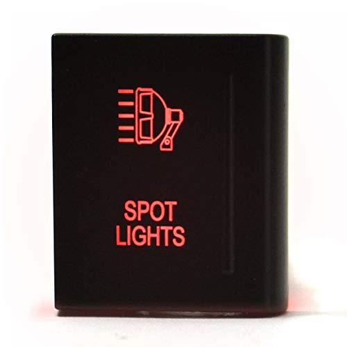 HUIXIAN XXIPO STRC 12V 3A LED luz de pulsador Rojo Interruptor de Empuje de la Barra de Encendido Interruptor de Encendido de Apagado Ajuste Universal para VW AMAROK se Ajusta al Lado Derecho