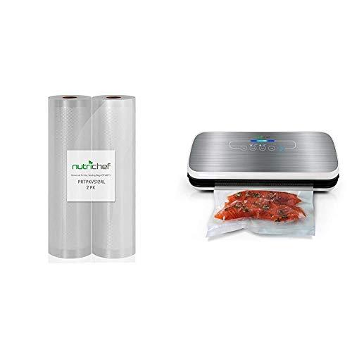 """NutriChef Premium (2) Vacuum Sealer Bags - 8"""" x 50"""