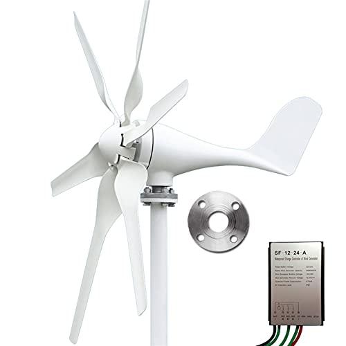Aerogeneradores Generador de turbinas de viento Generador de viento Imán Permanente 3/5 Cuchillas Opcional 400W / 800W 12V / 24V para iluminación para el hogar, botes Energía solar y eólica