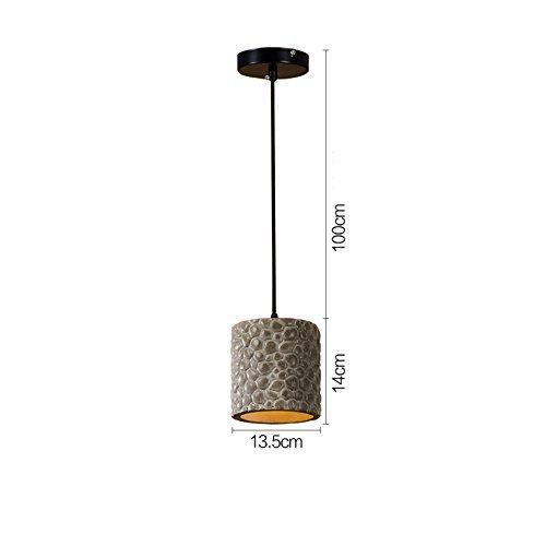 Chandelier Luces Colgantes Lámparas de Cemento, Cilindro