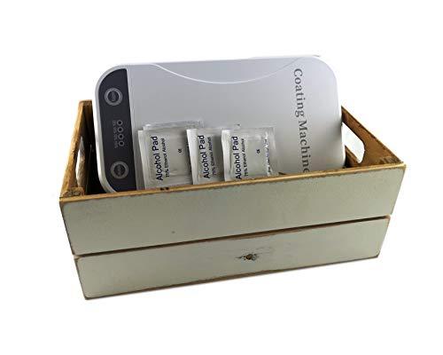 Hostelnovo – Kit con Esterilizador de móvil + toallitas desinfectantes + Caja Vintage –Funciona con luz Ultravioleta – Medidas: 22,5 x 12.5 x 4.2 cm