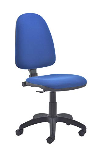 Office Hippo High Back Office Chair no Arms, Computer Chair for Home, Swivel Chair, Fabric, Royal Blue