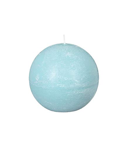Bougie boule Rustic - Diam. 10 cm - Bleu