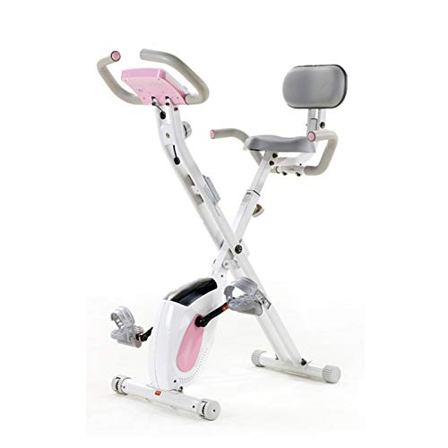 Bicicletas Estáticas Plegable con Respaldo Rosa Marca HMBB