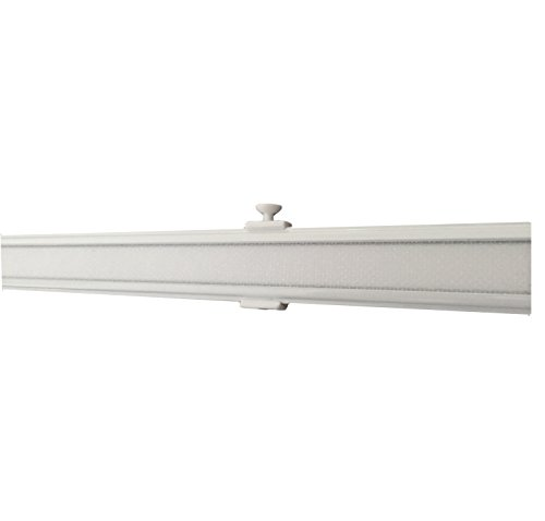 Garduna 60cm Aluminium Paneelwagen/Schiebewagen inkl. Beschwerung # Weiss # für Flächenvorhänge/Schiebegardinen