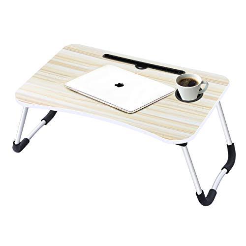 Laptop Desk,Laptop Bed Tray Table Large Foldable Laptop Notebook Stand Desk with Ipad and Cup Holder...