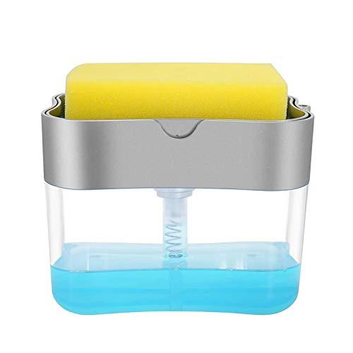 Dish Soap Dispenser for Kitchen,Liquid Soap Dispenser with Sponge Caddy Holder