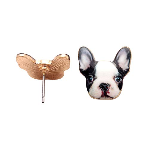 French Bulldog Earrings Enamel Colorful From the Ginger Lyne Collection