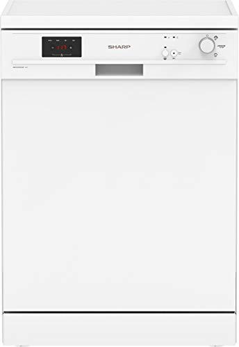 Sharp QW-GX12F472W-EN Independiente Lavavajillas con Super Active Drying, 13 cubiertos, Color blanco