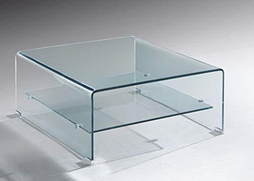 Grupo SDM - Mesas Centro de Cristal - Mesa Cristal Cuadrada Drew (60x60)
