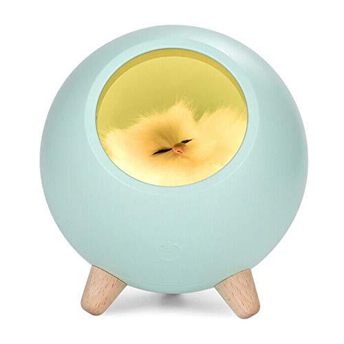 YCEOT kattenhuis met USB-oplading, lief cartoon-mini-led-nachtlampje met touch-functie, sfeerverlichting, decoratie voor de kinderkamer