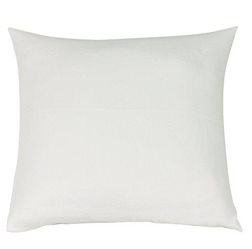 Blanc des Vosges Molleton 200gr/m² thermoregulant Taie, Coton, Blanc, 65x65 cm