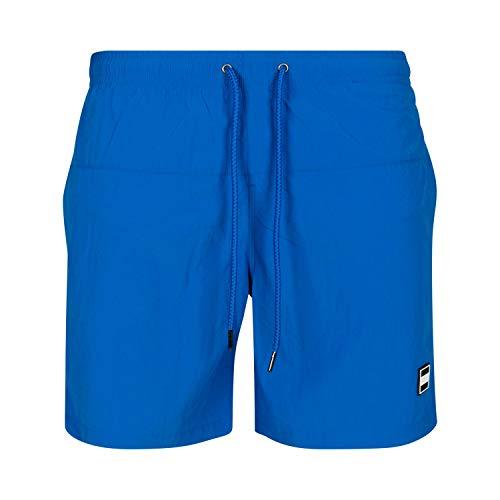 Urban Classics Block Swim Shorts Costume Uomo con Tasche, Pantaloncini da Bagno con Chiusura a Coulisse ed Elastico in Vita, Boxer da Spiaggia, Piscina, Mare, Cobalt Blue, M