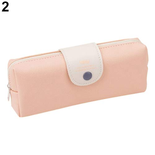 Grey990 Cute Pencil Case - High Capacity Hasp Mustache Stationery Storage Pouch Organizer Multifunction Coin Purse Beauty Makeup Handbag Students School Light Pink