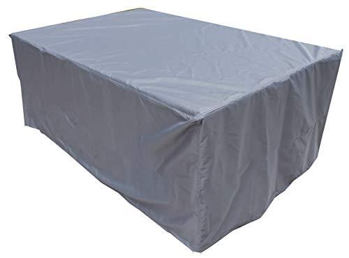 KaufPirat Premium afdekzeil 220x140x90 cm tuinmeubelen tuintafel hoes afdekking kap beschermhoes afdekhoes antraciet