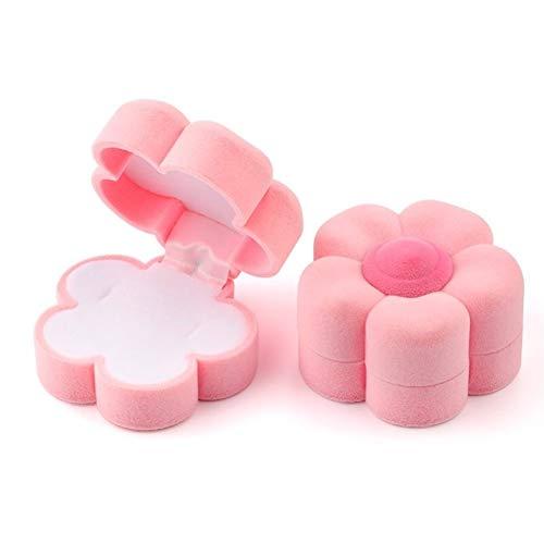 LOOEST 1 Pieza de joyería envase de la Caja de la Boda for la Pulsera Pendientes del Collar de la Caja del Anillo de Pantalla Caja de Regalo Holder Gift (Color : Flower Pink)