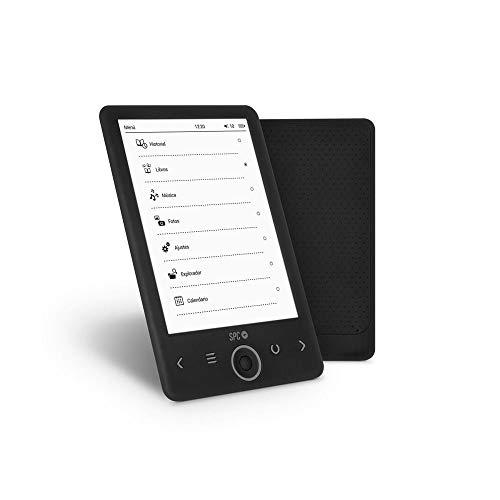 SPC Dickens - Libro electrónico con pantalla efecto papel (tinta electrónica), memoria interna de 4GB, ligero y fino
