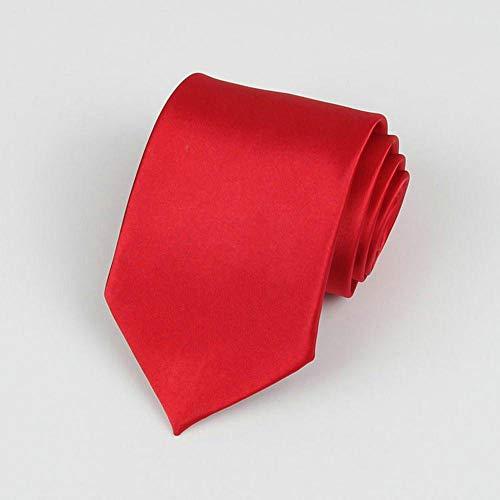 LuckyJX Einfarbig Krawatte 8 cm Simulation Silk Plain Business Kleid Herren Krawatte Polyester Seidenkrawatte Stil 18