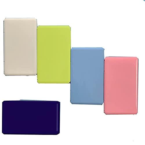 5 cajas de máscaras de color azul, blanco, rosa, amarillo y azul indigo para llevar máscaras a todas partes