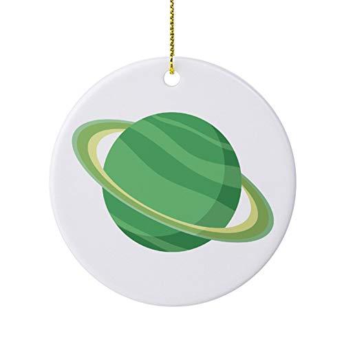 qidushop Decoración de Navidad con diseño de planeta verde de cerámica para...