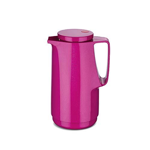 ROTPUNKT Isolierkanne 760 Maxima 1,0 l | Zweifunktions-Drehverschluss | BPA-frei - gesundes Trinken | Made in Germany | Warm + Kalthaltung | Glaseinsatz | Sparkling pink