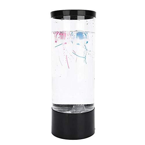 Haofy Quallen Aquarium Lampe Elektrische Quallen Tank Tischlampe mit Farbwechsel Licht LED Fantasy Quallen Lampe Dekoratives Licht Stimmungslicht zum Entspannen