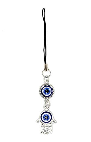 Bravo Team Lucky Blue Evil Eye Butterfly Hanging Hamsa for Good Luck and Protection I Comes with Traditional Blue and White Colors and Durable Cord for Hanging in Cars Keys and Bags
