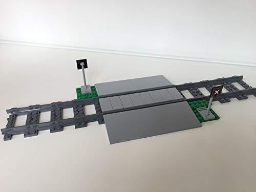 LEGO City Eisenbahn Bahnübergang, inkl. 3 gerade schienen (aus 60198)