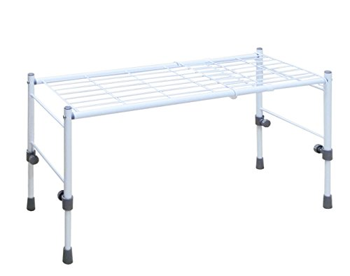 平安伸銅工業 サイズ調整可能なスリム収納棚 ホワイト 高さ幅伸縮タイプ 伸縮高さ29~41cm 伸縮幅54~75cm SCS-26