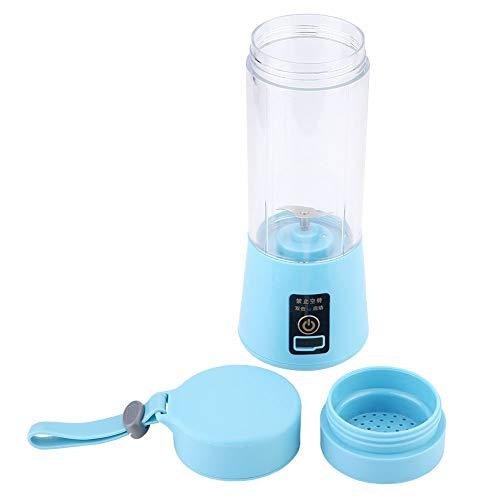 Frullatore portatile, frullatore portatile elettrico Frullatore per uso domestico Frullatore per frutta Frullatore per succhi ricaricabile USB Interruttore di sicurezza magnetico(blu)