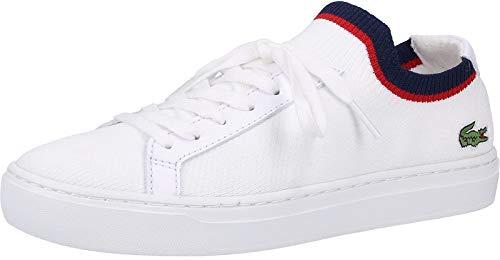 Lacoste La Piquee 119 1 Cfa, Zapatillas para Mujer, Blanco (Wht/Nvy/Red 407), 37 EU