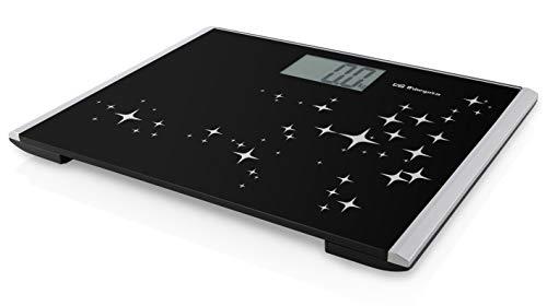Orbegozo PB 2228 Báscula de Baño Digital, Pantalla LCD, Táctil, 200 kg Máximo, Funciona a Pilas