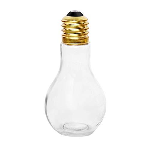 Feketeuki Bombilla de Verano Creativa Botella de Agua Breve Moda Lindo Jugo de Leche Bombilla Forma Taza Taza a Prueba de Fugas PlasticBottle Party Copas - Transparente