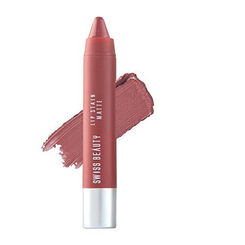 Swiss Beauty Stain Matte Lipstick, Hot-Nude-222, 3g