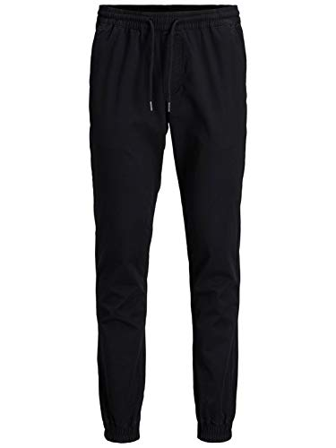 Jack & Jones Jjigordon Jjlane AKM Black Noos Pantalons, Noir, M Homme