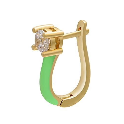 1 pieza de color dorado pequeños pendientes de clip de aro pendientes de perforación falsos joyería de moda para mujer 1,8 CM