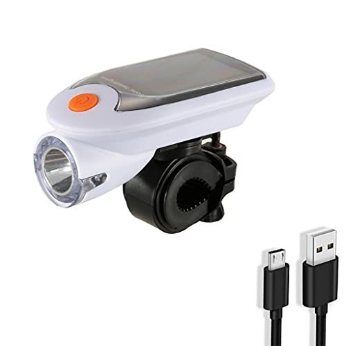 EATAN Leiouser 240 lúmenes soporte giratorio 360° luz de bicicleta, impermeable con USB recargable luces de bicicleta delantera y trasera