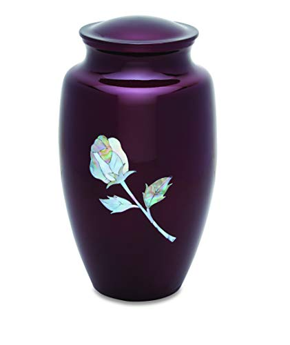 UrnsDirect2U Pearl Rose Adult Decorative-urns, Red
