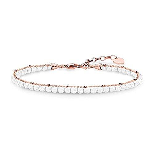 Thomas Sabo Damen-Armband weiß 925 Sterling Silber 750 Roségold A1716-325-14-L19v