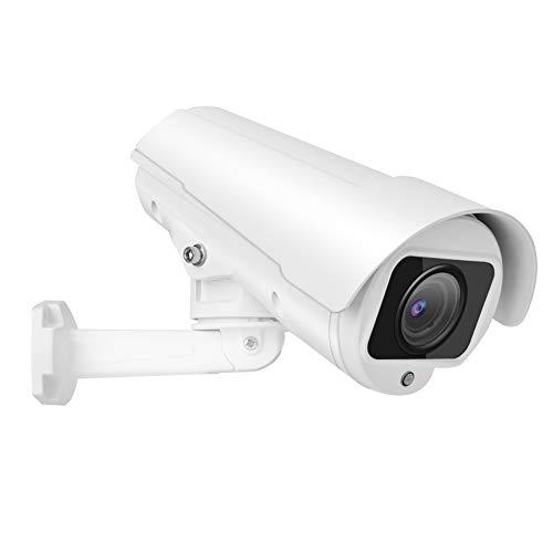 1080p 2MP Full HD Cámara de Seguridad IP, Cámara de Vigilancia Tipo Bala con 30m de Infrarrojos Infrarrojos Vison Nocturno, Zoom 4X para Exteriores